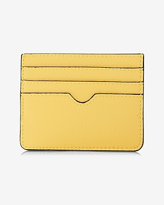 Express Womens Slim Credit Card Wallet Yellow Women's  Yellow