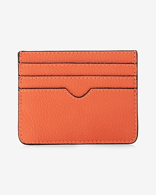 Express Womens Slim Credit Card Wallet Orange
