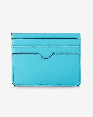 Express Womens Slim Credit Card Wallet Blue