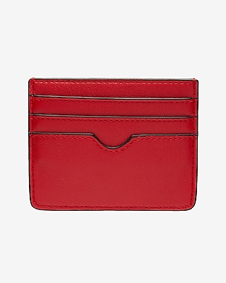 Express Womens Slim Credit Card Wallet Red Women's  Red