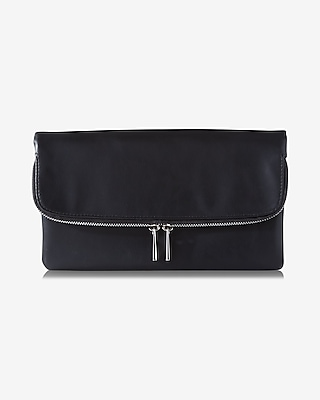 Express Womens Triple Gusset Fold-Over Clutch at Express