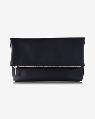 Express Womens Gusset Fold-Over Clutch at Express