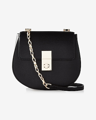 Express Womens Turnlock Cross Body Bag