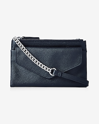 Express Womens Double Zip Flap Front Cross Body Bag at Express
