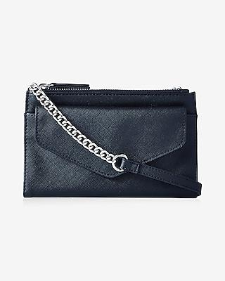 Express Womens Double Zip Flap Front Cross Body Bag