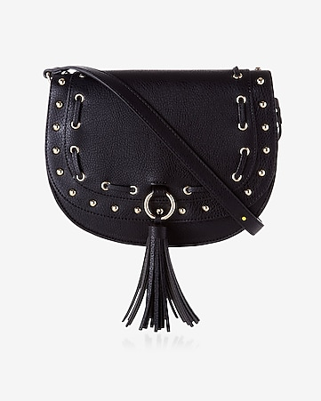 laced tassel saddle bag