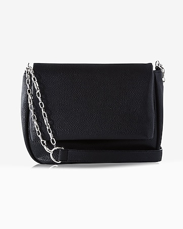 double chain fold-over crossbody