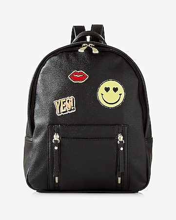 sporty patch embellished backpack