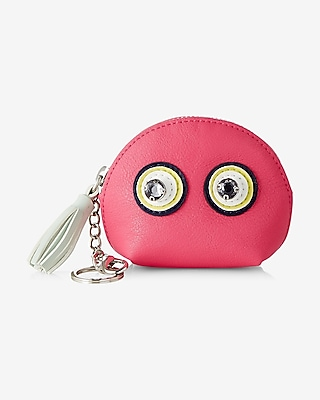 Express Womens Eyes Coin Holder Pink