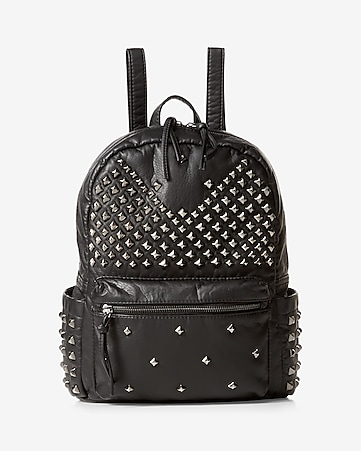 stud embellished backpack