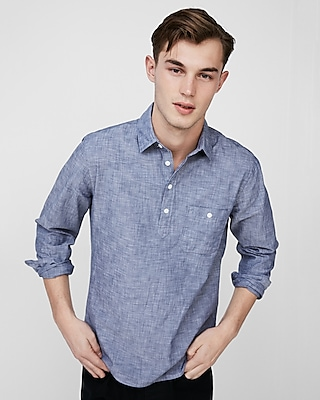 Express Mens Cotton Popover Shirt