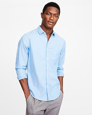 Express Mens Classic Fit Soft Wash Micro Dot Shirt