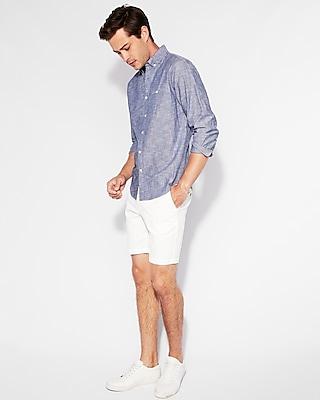 Express Mens Classic Welt Pocket Chambray Button-Collar Shirt