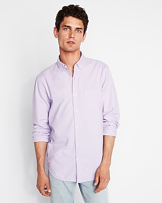 Express Mens Classic Soft Wash Button-Down Oxford Shirt