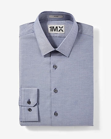 fitted micro print 1MX shirt
