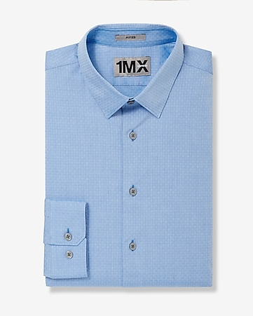 fitted 1MX dobby dress shirt