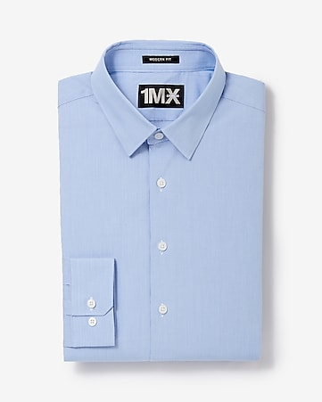 modern fit mini stripe dobby 1MX shirt
