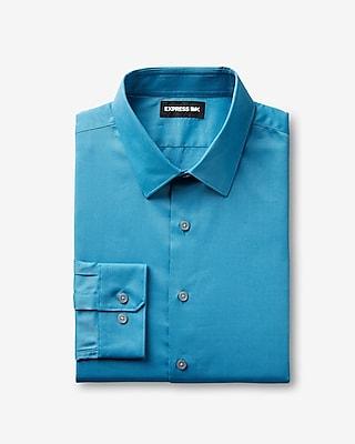 Express Mens Slim Easy Care 1Mx Shirt Blue Men's Xl Blue XL
