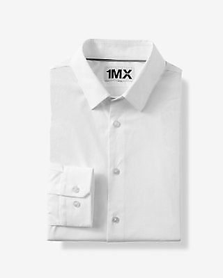 Express Mens Slim Fit Easy Care 1Mx Shirt White X Small