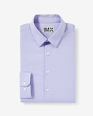 Express Mens Fitted Easy Care Textured 1Mx Shirt