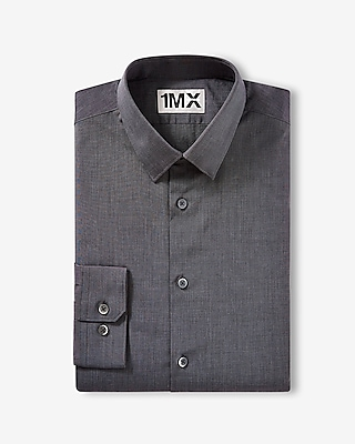 Express Mens Slim Fit Easy Care Textured 1Mx Shirt