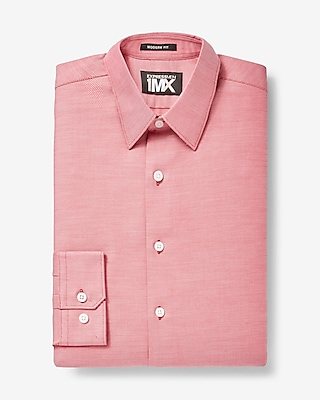 Express Mens Modern Fit Diagonal Dobby 1Mx Dress Shirt