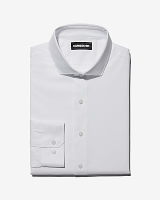 Express Mens Classic Easy Care Diamond Dobby 1Mx Shirt