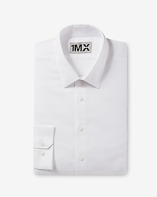 Express Mens Slim Easy Care Diamond Textured 1Mx Shirt