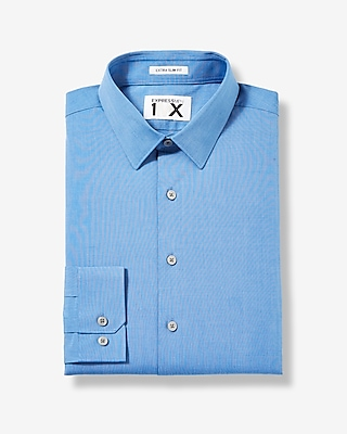 Express Mens Slim Fit Textured 1Mx Shirt