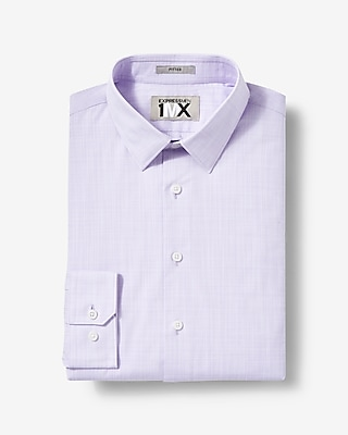Express Mens Slim Fit Easy Care Textured Slub 1Mx Shirt