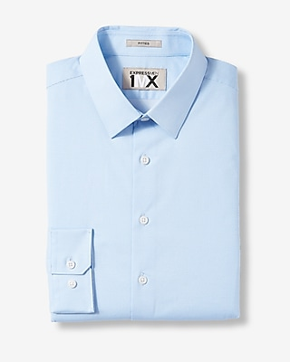 Express Mens Slim Easy Care Dot 1Mx Shirt