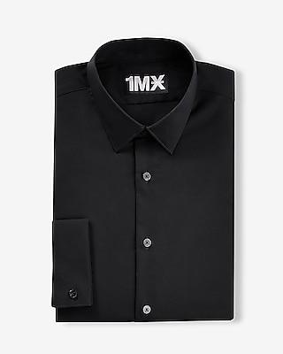 Express Mens Modern Fit French Cuff 1Mx Shirt Black X Small