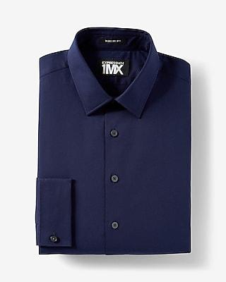 Express Mens Modern Fit French Cuff 1Mx Shirt Blue X Small