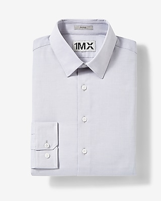 Express Mens Extra Slim Fit Easy Care Patterned 1Mx Shirt