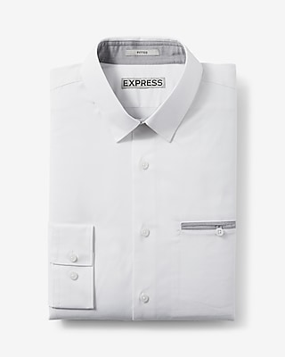 Fitted Piped Pocket Stretch 1mx Shirt