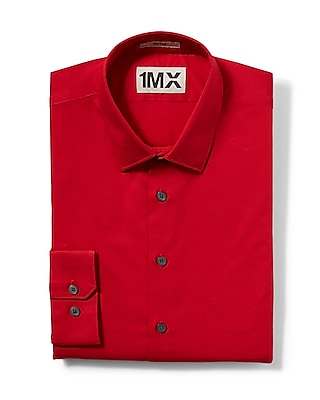 Express Mens Fitted 1Mx Shirt Red Small