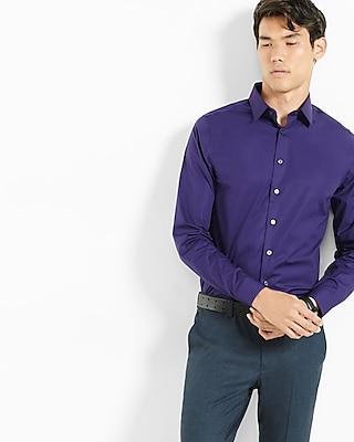 Express Mens Extra Slim 1Mx Shirt Purple Small