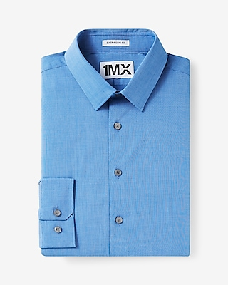 Express Mens Slim Fit 1Mx Shirt Blue Small