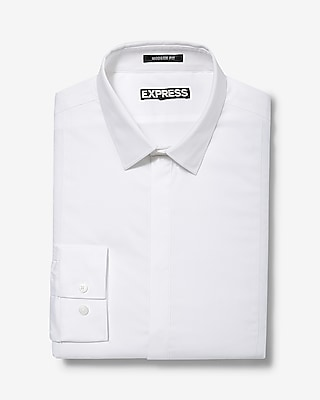 Express Mens Classic Fit Basic Tuxedo Dress Shirt