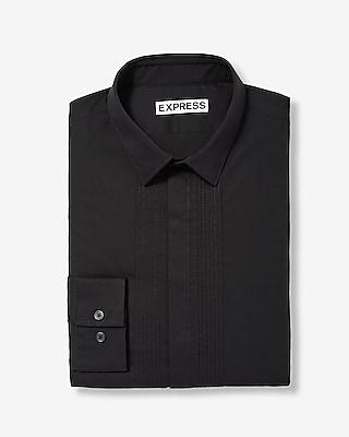Etounes express mens dress shirts extra slim dot trim for Extra slim tuxedo shirt