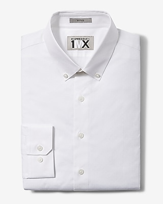 Express Mens Slim Easy Care Square Dobby 1Mx Shirt
