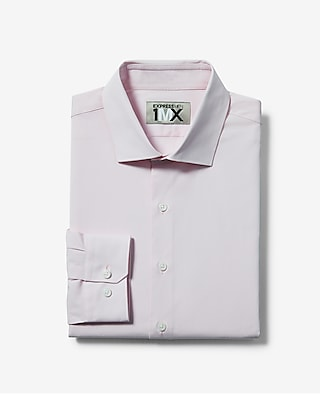 Express Mens Slim Solid Easy Care End-On-End 1Mx Shirt
