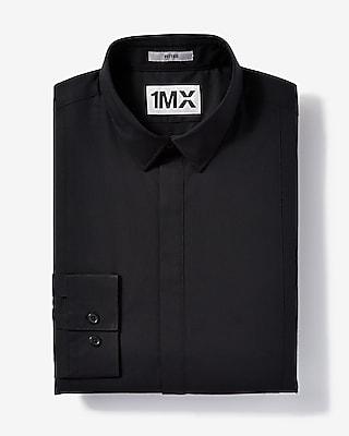 Express Mens Slim Easy Care Tuxedo 1Mx Shirt