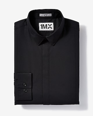 Mens Slim Easy Care Tuxedo 1Mx Shirt