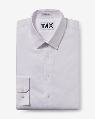 slim fit diamond textured 1MX dress shirt