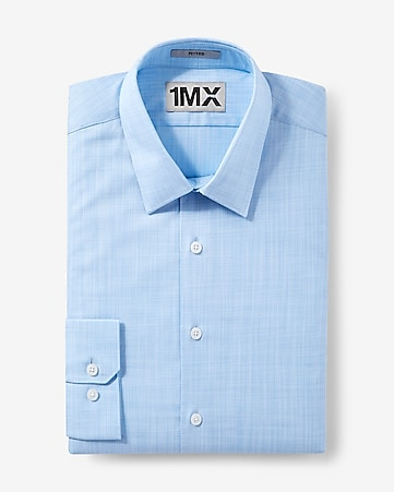 fitted micro check 1MX shirt