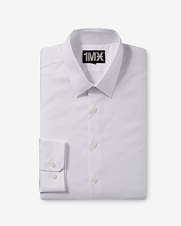 modern fit diamond textured 1MX dress shirt