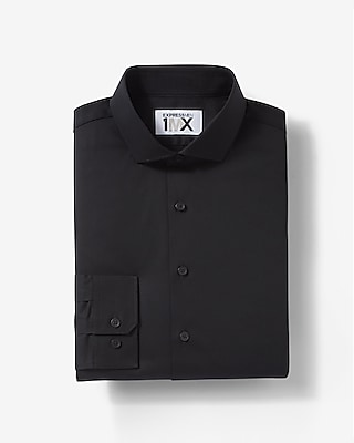Express Mens Extra Slim Fit Easy Care Diamond Textured 1Mx Shirt