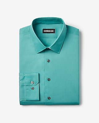 Express Mens Slim Solid Stretch Shirt Blue Men's Xs Blue XS