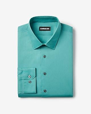 Express Mens Extra Slim Solid Stretch Shirt Blue Men's Xs Blue XS